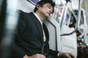 Japanese man workaholic