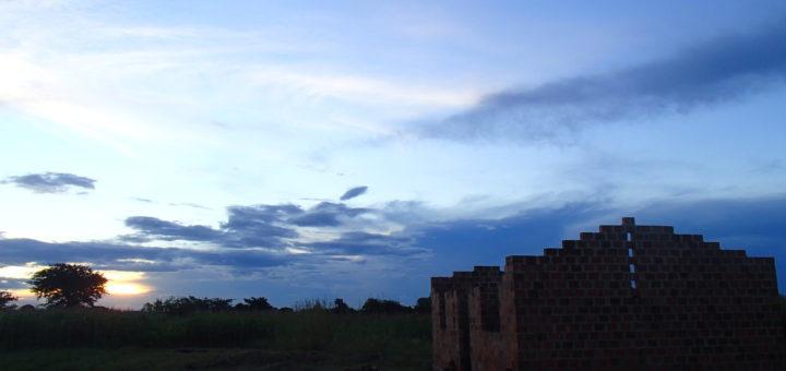 ザンビア 空 家 草原 sky zambia africa
